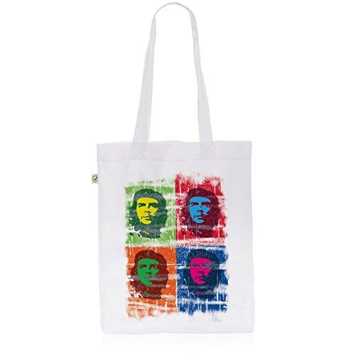 style3 Che Guevara Pop Biobaumwolle Beutel Jutebeutel Tasche Tote Bag kuba revolution