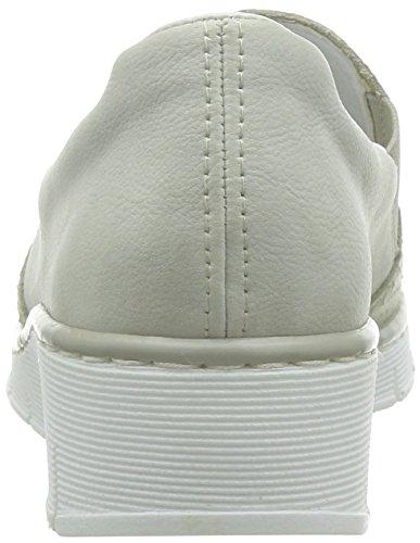 Rieker53766-60 - Mocassini donna Bianco (Bianco (Off White))