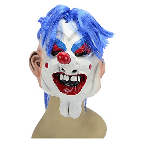 WHLMJ Clown Maske Halloween Make-up Dekoration Accessoires Latex -
