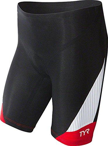 TYR Herren Sport Carbon 9 Zoll Tri Kompressionshose Sport, Herren, schwarz/red, Large -