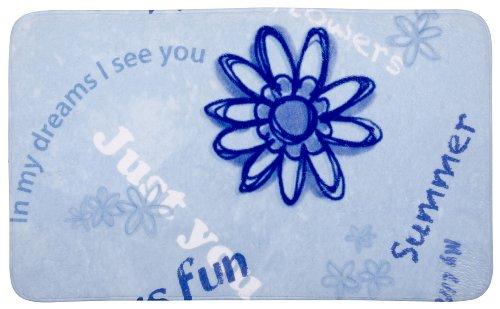 Wenko 20873100 Badematte Happy - Duschvorleger, Kunststoff - Polyester, Mehrfarbig