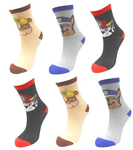 Paw Patrol Boys 6 Pack Cotton Socks