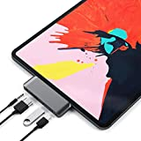 Satechi Typ-C Aluminium Mobiler Pro Hub Adapter mit USB-C PD Ladefunktion, 4K HDMI, USB 3.0 und...