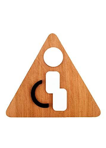 3DP Signs WC [4] | Behinderten-Bad Restroom Toilette-und Türschilder Piktogramme für Türen, lokalen, Büros, personalisierbar, Schild aus Holz Prägedruck