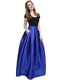 Rcool Falda Corta Faldas Faldas Mujer Invierno Faldas largas Falda Flamenca Mujer,Big Chunky Chiffon