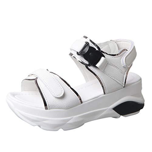 Innerternet Damen Keilabsatz Schuhe Mode Lässig Sommer Sport Sandalen Dicke Plattform Med Ferse Schuhe Freizeit Keilabsatz Schuhe Mode Lässig Sommer Sport Sandalen - Cowboy-plattform