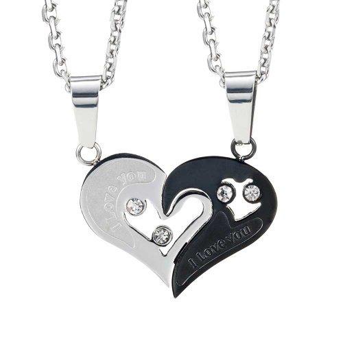 Collana per innamorati per san valentino con pendente a forma di cuore