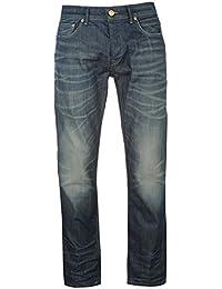 Firetrap Mens Dark Jeans Straight Denim Trousers Casual Pants Bottoms