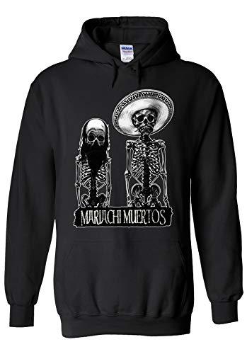 i Muertos Skull Mexican Halloween Novelty Black Men Women Unisex Hooded Sweatshirt Hoodie-XXL ()