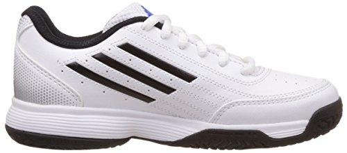 adidas Sonic Attack K, Chaussures de Tennis Mixte Enfant blanc/noir/argent mat