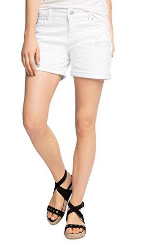 Denim-stretch-shorts (ESPRIT Damen Short 056EE1C005-mit Stretch, Weiß (White 100), W31)