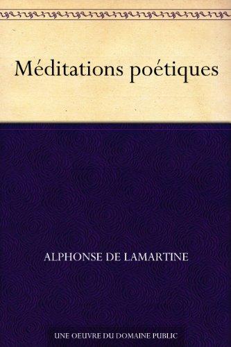 Couverture du livre Méditations poétiques