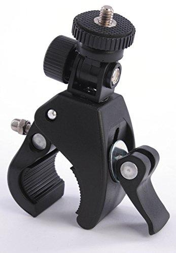 Zubehör Halterung Lenkerhalter universal Griff Grip GoPro Adapter Klemme Fahrradhalter Motorrad Lenker Halterung Kamerahalterung Stativ Fahrrad und Motorrad Lenker in Schwarz - Kamera Halter Bike G97 (Kamera-lenkerhalterung)