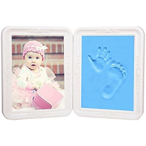 Baby Casting impressione Kit per bambino/bambina mani o piedi Baby mano lancio a mano piede stampa cornice per foto Kit Set idea regalo