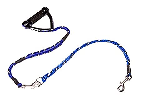 EzyDog 5708214105492 Leine Cujo combo A, 25 inch 100 cm plus 1 Cujo extension, 24 inch, blau