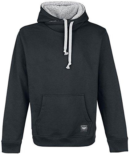 Black Premium by EMP High Collar Fleece Sweat à capuche noir Noir