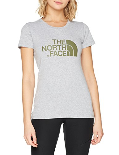 THE NORTH FACE Damen S/S Easy Tee T-Shirt, Lht Grey/Bla, L -
