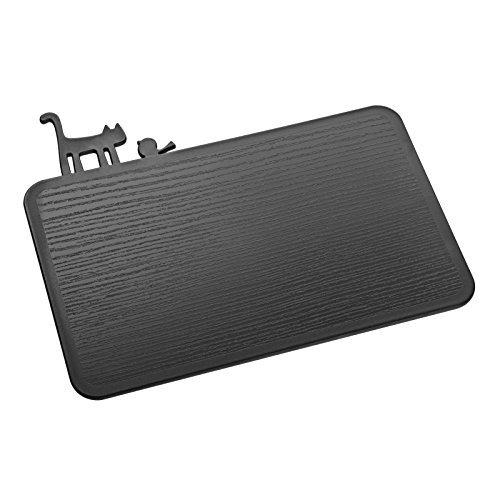 Koziol [ Pi:P Planche à découper, Plastique, Noir Opaque, 25 x 29,8 x 0,5 cm
