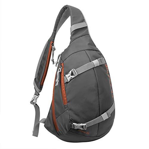 Mardingtop Leichte Brusttasche Umhängetasche Schultertasche Cross Bag Schleuder Tasche Sling Rucksack Outdoor Sporttasche zum Wandern Radfahren Reisen (09 Dunkelgrau)