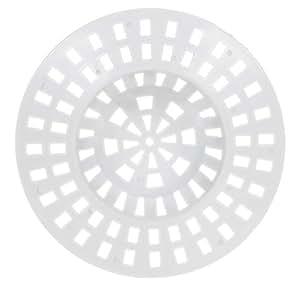 De-Plastik 5844 111 Abflußsieb / Ø 70 mm / weiß / 12er Set
