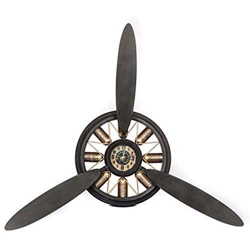 Wanduhr Propeller-Flugzeug Flieger Metall Nostalgie Retro Pilot-Uhr Quarzuhrwerk. Von Haus der Herzen