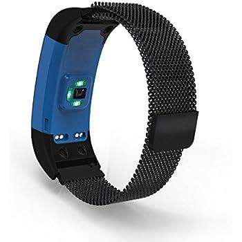 Pour Montre En Vivosmart Inoxydable Bracelet Hrhr Plus Connectée Garmin Pinhen Acier pUqGMSVz