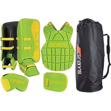 GRAYS Kinder G90Torwart Set Einheitsgröße Lime/Fluo Yellow (Junior Goalie Pads)