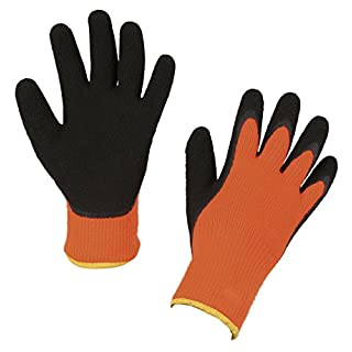 Kerbl Latex 297481 Ice Grip Winter Gloves Size 7/S Knitted HS Orange