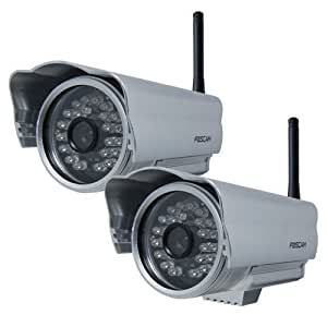 Pack 2X Foscam FI8904W Telecamera IPCAM Wi-Fi Esterno 1/5 3.6 mm 45°