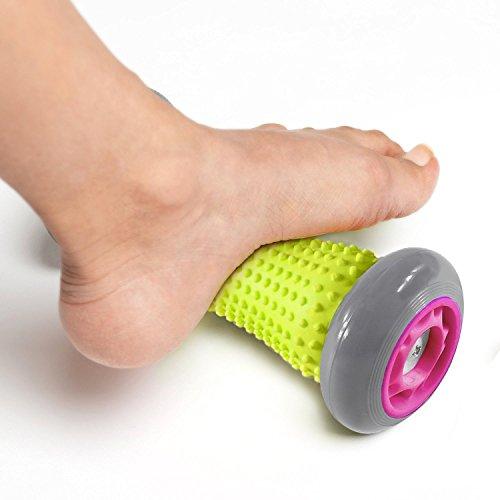 Zhao&ans Fuß Massage-Roller, Hand Muscle Roller Stick Trigger Point Massage Handgelenke und Unterarme Bewegung Roller für Plantarfasziitis, Recovery Werkzeug für Plantarfasziitis