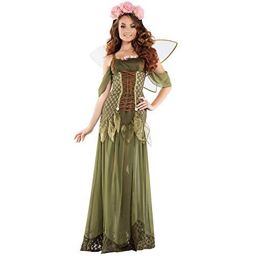 Elf Kostüm Wald - Halloween Grünen Wald Magic Butterfly Elf Princess Dress Angelic Cosplay Kostüm, Wie Gezeigt, M