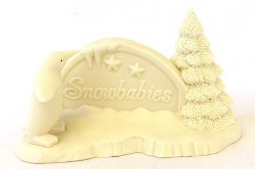 snowbabies-snow-baby-polar-sign-with-1-tree-and-1-penguin-dp68047-6804-7-by-figurines