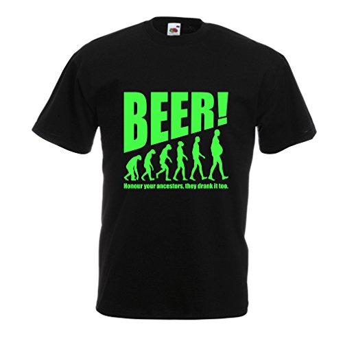 er T-Shirt The Beervolution (XXX-Large Schwarz Grün) (Günstige Martini-gläser)
