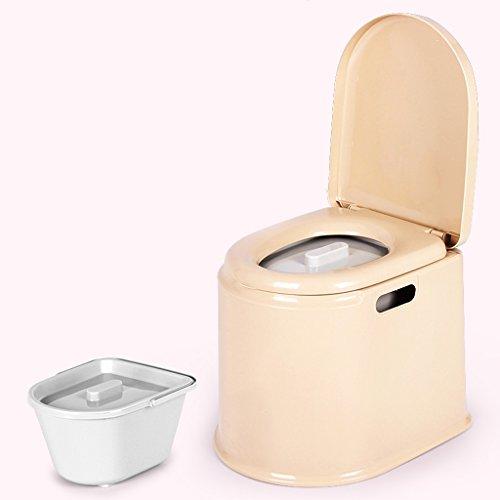 LI JING SHOP - Portable Toilettenstuhl Alter Mann mit schwangeren Frauen Kind beweglichen Kunststoff Nehmen Sie einen Hocker ( Farbe : Khaki , größe : #-001 ) (Bad Leuchte Seite)