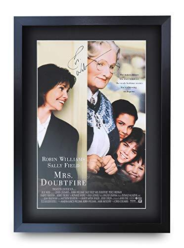 HWC Trading Mrs. Doubtfire A3 Gerahmte Signiert Gedruckt Autogramme Bild Druck-Fotoanzeige Geschenk Für Robin Williams Filmfans -