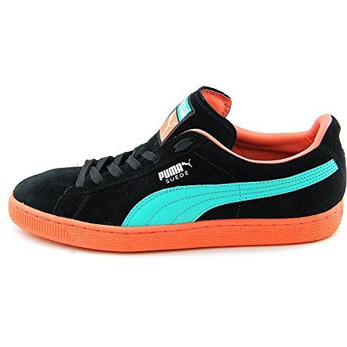 Puma Suede Classic Leather Sneaker bande PUMA black-fluo peach