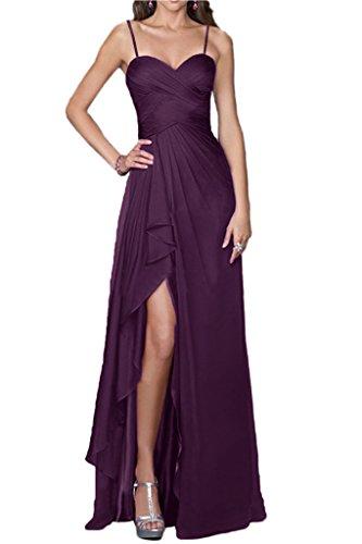 Victory bridal glamour une épaule abendkleider long tuell brautjungfernkleider prom/ballkleider partykleider Traube-traeger
