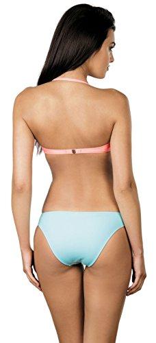 Lorin Bikini Push Up Set per Donna L2002/6 Corallo/Blu (Modello-v1)