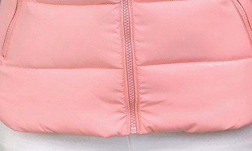 Donna-Colletto-in-pelliccia-Down-Colletto-giacca-corta-cappotto-Caldo-Cappotto-Giacca-Trapuntata