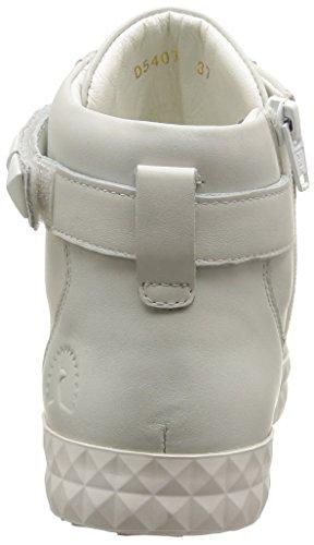 Geox D Prudence B, Sneakers Hautes femme Blanc (C1000/Vit Liscio)