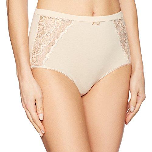 Bali Women's Cotton Desire W/ Lace Brief, Champagne Shimmer, 8 (Panties Bali Briefs)