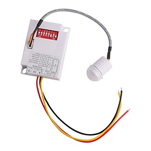 JOYKK IR Infrarot Modul Körper Sensor Intelligente Lichter Lampe Sensing Switch Motion - Weiß (220v Motion-sensor-schalter)