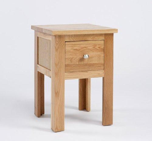 Lansdown Oak 1 Drawer Lamp Table