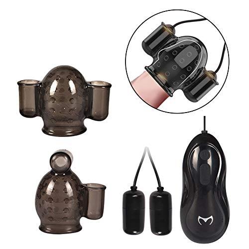 Leistungsstarker 12 Modi Eichel Vibrator Stimulator, Bullet Vibrator Ei für Männliche Sexuelle Elektrostimulation Weich Eichel Hülse Penis Vibro, Vibrator Massager Masturbator mit Fernbedienung