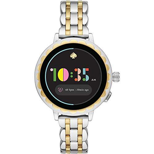 Kate Spade New York - Damen Scallop 2 Touchscreen Smartwatch - Zwei Töne Silber/Gold Edelstahl - KST2012