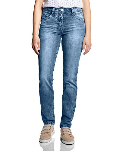Cecil Damen 372082 Straight Jeans, Blau (Light Blue Used Wash 10349), W29/L32 (Herstellergröße:29)