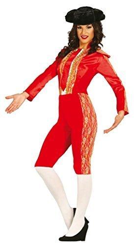 Welt Kostüm (Damen Sexy Spanisch Matador Stierkämpfer aus aller Welt Kostüm Kleid Outfit UK 12-18 - Rot, Rot,)