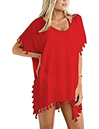 da2498dd5 Pingtr Chiffon Beach Cover Up Women Chiffon Swimsuit Cover Up Swimwear  Beachwear Bikini Loose Beach Cover