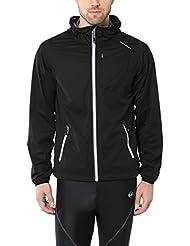 Ultrasport Herren Multi-Funktionsjacke Endy mit Ultraflow 3.000, leicht und atmungsaktiv, deshalb ideal als Laufjacke, Trainingsjacke oder Fahrradjacke, wind- und wasserdicht