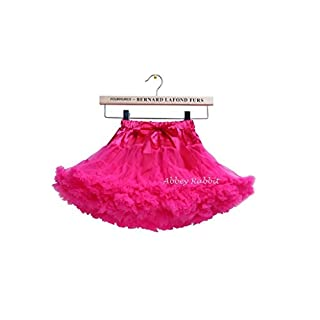 Girls Fluffy RARA Skirts Pettiskirts Tutu Princess Party Skirts Ballet Dance Wear 12M-8 Years Abbey Rabbit Exclusive Copyright (L, Hot Pink)